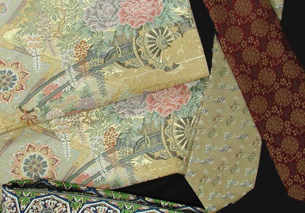 西陣の織物画像